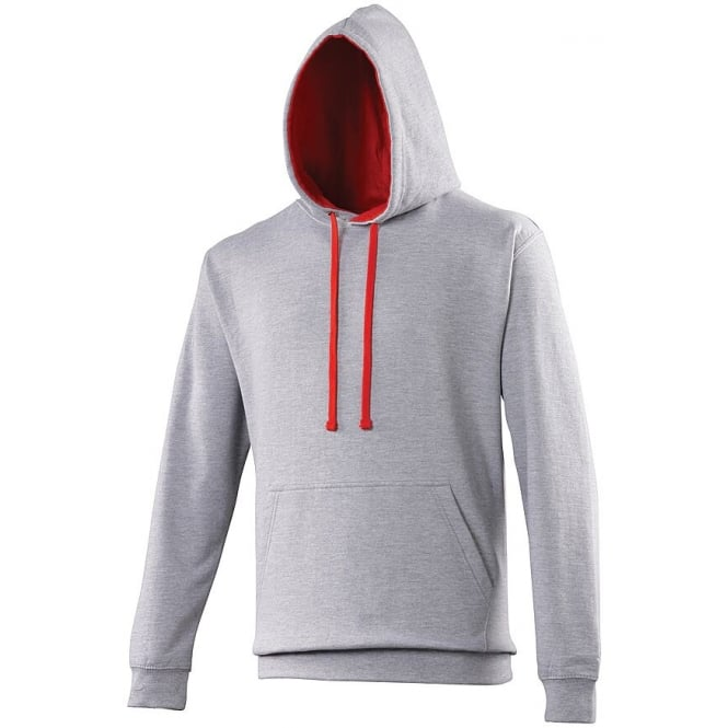 Heather grey-fire red